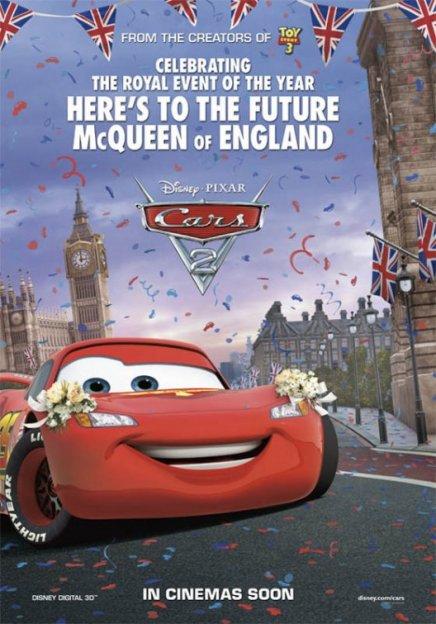Cars 2 : vidéo mariage Kate et William