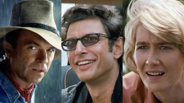Jeff Goldblum, Laura Dern et Sam Neill dans Jurassic World 3