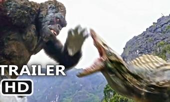 KING KONG combat un monstre gigantesque pour KONG : SKULL ISLAND (extrait)