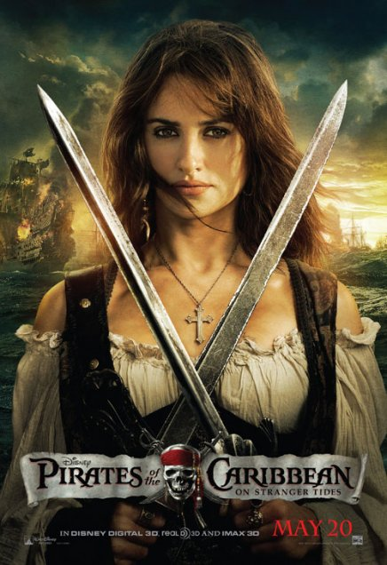 Pirates des Caraibes 4 : poster de Penelope Cruz