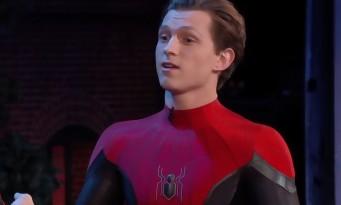 Spider-Man : Tom Holland présente son nouveau costume avec un saut périlleux