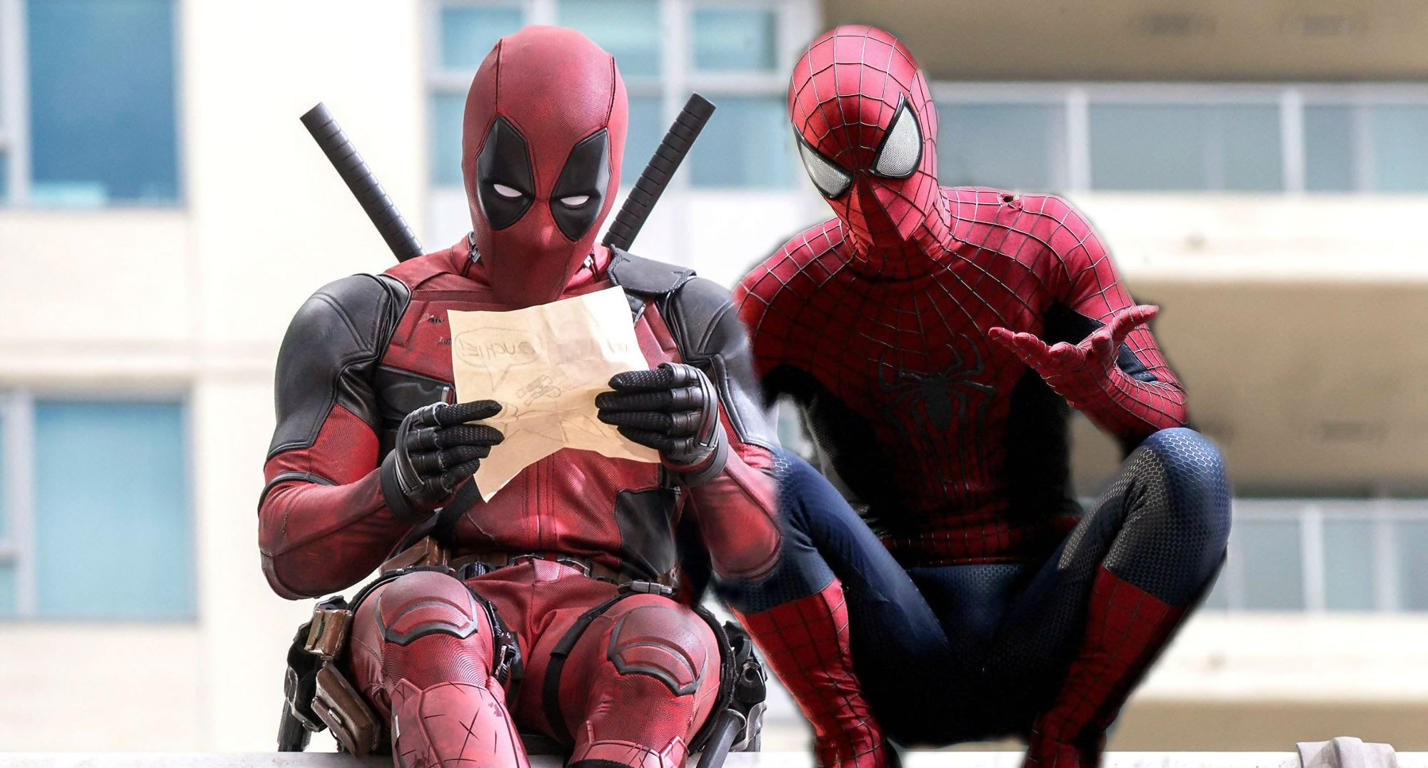 Deadpool Face A Spider Man Dans Civil War Grace A Un Fan