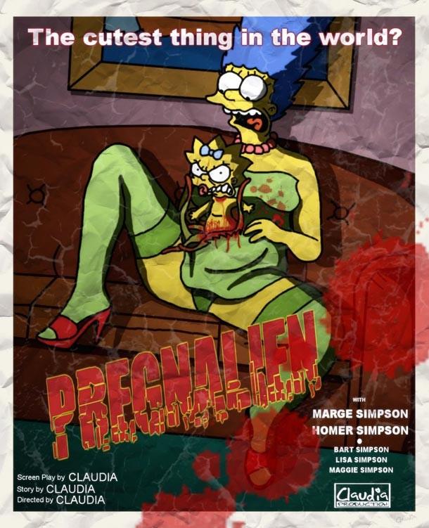 Les Simpsons Parodies D Affiches De Film